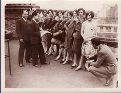 Competitors and judges of the 1930's World's Loveliest Girl competition.