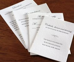 familycrest letterpress wedding invitation  - enclosure cards with response card