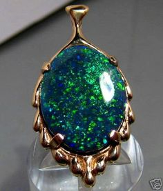 Big Black Opal pendant.