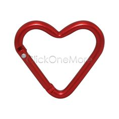 Heart Carabiner Clips Aluminium Alloy Outdoor Snap Hooks