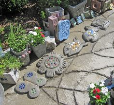 stepping stones | Freshly made stepping stones.