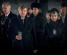 Auschwitz 70th Anniversary - Royal families of Belgium and Netherlands