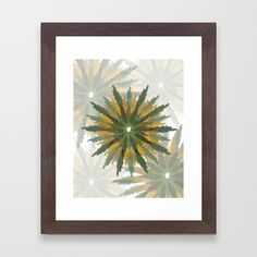 Leafy Wreaths Framed Art Print by weivy Art Prints For Home, Framed Art Prints, Presents For Friends, Frame Wreath, Green Art, Iphone Skins, Pattern Flower, Tapestry, Wreaths