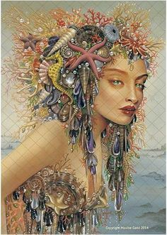 Maxine Gadd published fairy and fantasy artist. Exceptional digital illustrations and mystical beings Fantasy Mermaids, Mermaids And Mermen, Foto Fantasy, Fantasy Art, Magical Creatures, Sea Creatures, Inspiration Artistique, Sea Pictures, Mermaid Fairy