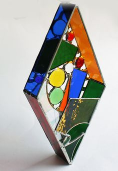 Original 3D free-hanging Stained Glass Art Dazzling by LAGlass