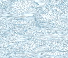 Waves fabric by yaskii on Spoonflower - custom Wallpaper