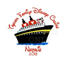 Personalized DC2 Disney Cruise Family Vacation T-shirt Tshirt Party Favor Supplies. $11.00, via Etsy.