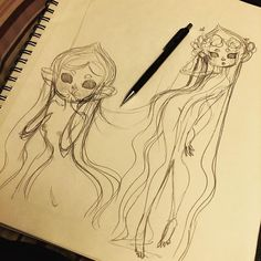 haven't been able to do new drawings so here's an old sketch of forest spirit. #art #sketch #forestspirit #original