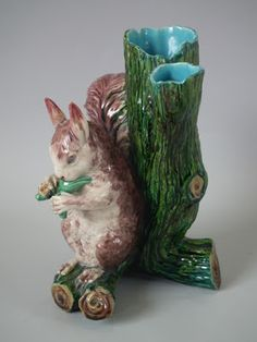 Minton Squirrel Vase Glazed and Confused
