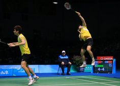 Cai Yun and Fu Haifeng win men's doubles event, Olympics, 2008