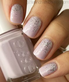 pastel and glitter ombre