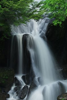 summer waterfall by Sky-Genta, via Flickr  June 2012