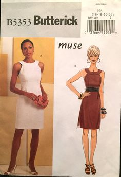 Butterick Fitted Sheath Dress with Princess Seams by wrapsETC