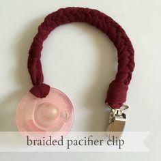 Live a Little Wilder: DIY braided pacifier clip {tutorial}