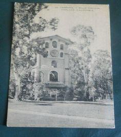 El Campanil - Mills College, Oakland, California - Vintage CA Postcard