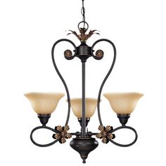 Scrolling+chandelier+with+glass+shades.++++Product:+Chandelier++++++Construction+Material:+Glass+shade++++++...