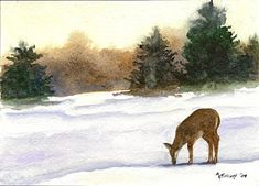 Deer Painting - Michigan Landscape by Marsha Elliott