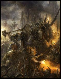 Warhammer Fantasy Roleplay 3rd Edition by Daarken - demon, war, warrior - Art of Fantasy