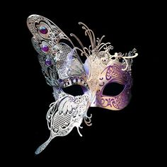 Magenta Purple Masquerade Mask, Luxury Butterfly Mask, Luxury Jeweled Venetian Masks, Masquerade Ball Mask - The Effective Pictures We Offer You About mask drawing A quality picture can tell you many things. Venetian Masquerade Masks, Masquerade Party, Masquerade Mask Tattoo, Masquerade Ball Dresses, Venetian Carnival Masks, Butterfly Mask, Purple Butterfly, Butterfly Design, Mask Painting