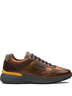 Church's Tenis Con Agujetas - Farfetch Brown Sneakers, Lace Up, Front Lace, Synthetic Rubber, Leather Texture, Calf Leather, Calves, Men's Shoes, Contrast