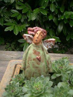 Sculpture Clay, Garden Sculpture, Sculptures, Pottery Angels, Paper Clay Art, Ceramic Angels, Hand Built Pottery, Sacred Art, Boho Decor