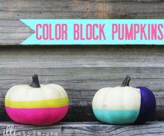 Color Block Pumpkins - illistyle.com