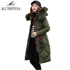 ALI TOPTINA Winter Coats Woman 2017 Heavy Long Thickening Cotton-padded Cotton Winter Jacket Parka Jaqueta Feminina Inverno Mf04