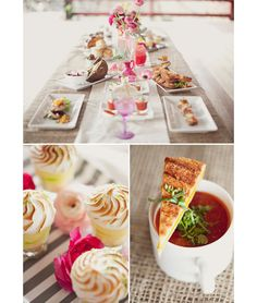 simple + colorful #party #table #food
