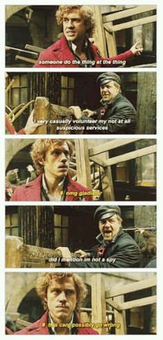 I love this to pieces. I shall have to find for you the other version of this, in which someone questions Gladiator to chastisement from Enjolras.