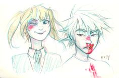 the afterlife | this is a cool sketch of Maka and Soul!