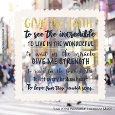 """Live in the Wonderful"" by Lakewood Music #liveinthewonderful #lakewoodmusic #christiansong #christianmusic #songlyrics #greatsong #greatlyrics #worshipsong #worshipmusic"