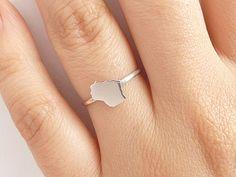 Sterling Silver Wisconsin Ring  Custom Heart  by PRECIOUSWINGSCOM