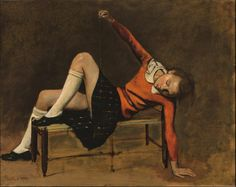 Thérèse On A Bench Seat by Balthus