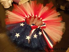 Tutu Costume Idea: American flag tutu ... Or maybe it's part of Wonder Woman's costume... Simple to make (see my Tutu Cute board for a basic tutu tutorial)