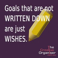 There is something semi-magical about writing our goals down. When you put pen to paper you turn your thoughts into something tangible. You can actually see it and touch it. Your goal is no longer just a thought! It becomes something, what motivates you and creates a gut feeling inside. Here are 4 Rules to better write your goals: 1 Write your goals in present tense,  2 Write your goals in positive,  3 Write your goals out in complete detail,  4 Include your name.