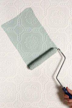 Floral Square Paintable Wallpaper