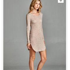 Lightweight short dress Lightweight scoop neck dress. Made in USA, 38% rayon, 60% polyester, 2% spandex. Dresses