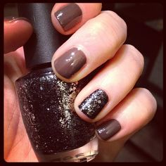 Looks like OPI You Don't Know Jacques with OPI Nicki Love Metallic 4 Life