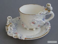 These are a work of art - I wouldn't use them, but display them with my other precious tea cups! I LOVE the owls!