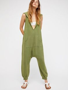 e04bb3d528db 5101 New Intimately Free People FP Seriously Green Hooded Romper Jumpsuit S   fashion  clothing
