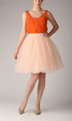 Adult champagne tutu skirt, wedding tulle skirt, petticoat