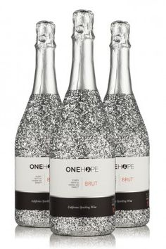 Sparkling Wine Glitter Bottle 3-Pack