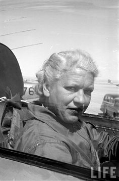 June 3rd, 1953: Jackie Cochran set an FAI world record for speed by traveling 663.426 MPH while flying the Canadair CL-13 Sabre Mk.3 No. 19200 at Edwards Air Force Base, California.