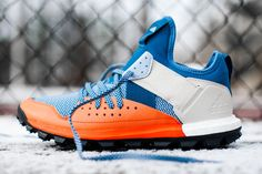 adidas Response Trail Boost Core Blue and Energy Orange Adidas Sl 72, Adidas Nmd, Adidas Samba, Adidas Superstar, Sneakers Mode, Casual Sneakers, Shoes Sneakers, Best Trail Running Shoes, Hiking Shoes
