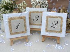 Tischnummer Tischzahlen Hochzeit Vintage von Papierwiese auf DaWanda.com
