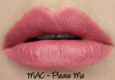 MAC The Matte Lip 2015 - Please Me Lipstick Swatches & Review