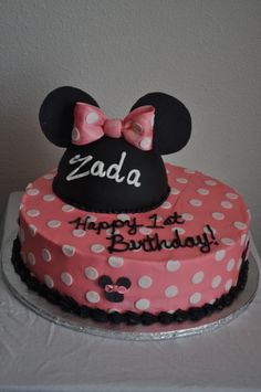 minnie mouse birthday.... By Megan72382 on CakeCentral.com