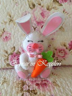 Ebrar'ın Keçeleri: Keçeden Oyuncak - Sevimli Tavşan