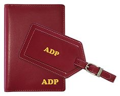 Personalized Monogrammed Red Leather RFID Passport Wallet... I cannot say enough about this product. I was looking for a Christmas gift for my new daughter in law. She travels a lot for work, so I thought this would be a nice accent for her luggage. I love it so much that I plan to order another set for my husband. Functional and beautiful! Don't hesitate to buy this-  you will not be disappointed.