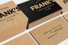 Identity work for Frank's, the first speakeasy bar in Buenos Aires. Designed by FBDI in Argentina.